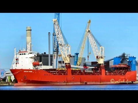 OCEAN PRIDE A8WO4 IMO 9220639 Emden cargo seaship merchant vessel Kranschiff Seeschiff