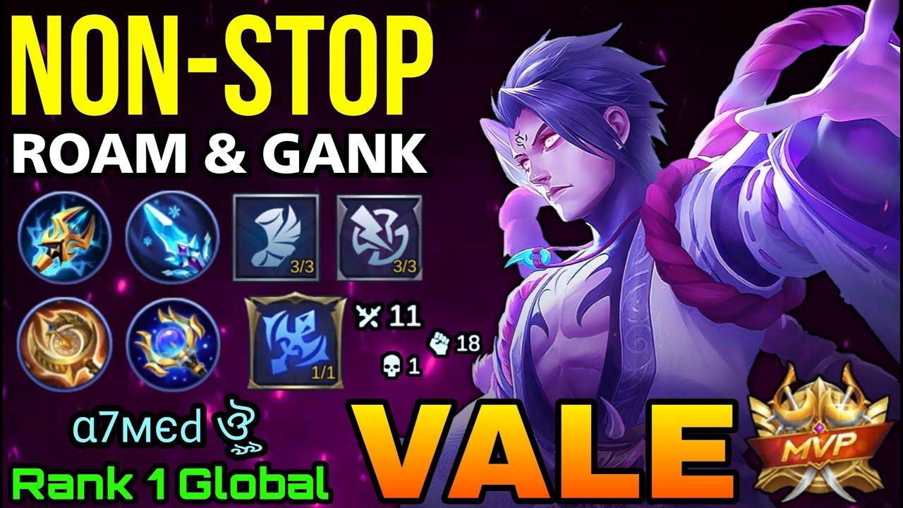 NonStop Ganking & Roaming Vale Kannagi MVP Play! - Top 1 Global Vale by α7мєd ঔৣ - MLBB