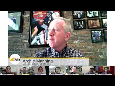Liberty Mutual Coach of the Year Hangout With Archie Manning
