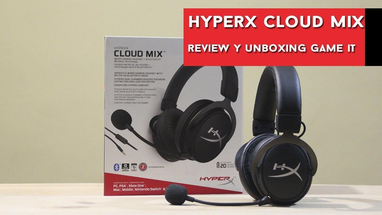 HyperX Cloud Mix, review, unboxing y prueba de micrófono - YouTube