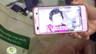 熊本地震にコロッケさんが避難所に慰問のニュースをスマホで見ました。避難所にて
