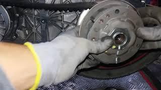 Cách bắn ốc côn xe ga không lo bị nhờn ren .