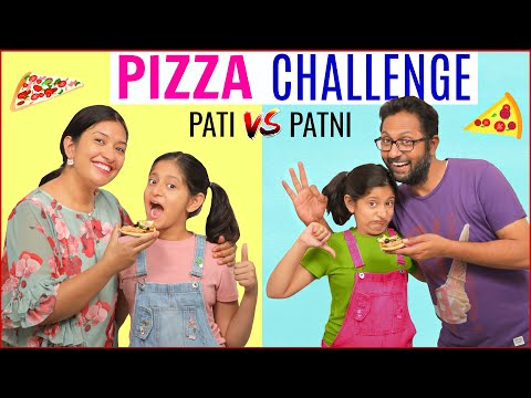 Pizza Challenge - PATI vs PATNI | CookWithNisha