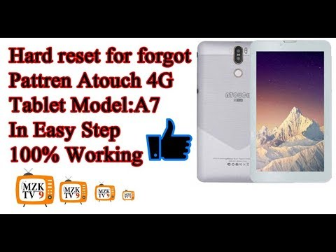 Hard reset Atouch tablet for forgot screen pattern 2019 - YouTube