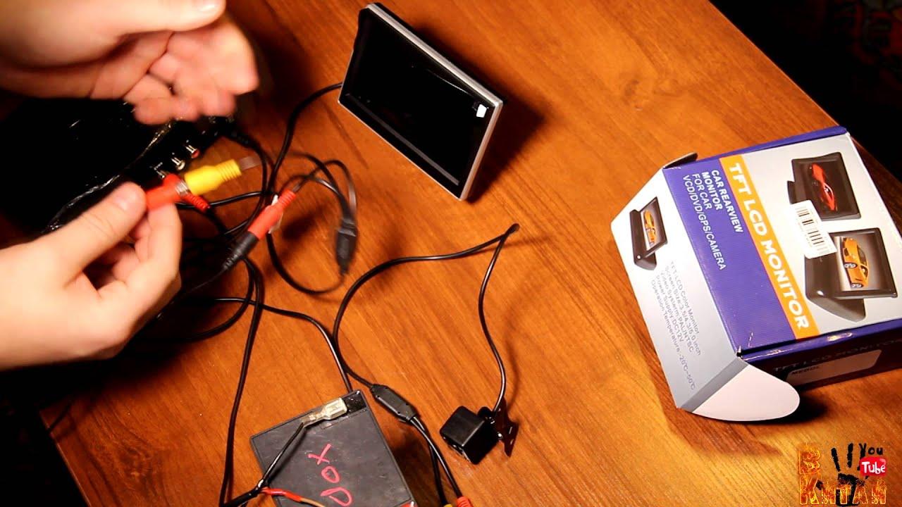 Монитор 5 дюймов для камеры заднего вида 800х480 - YouTube