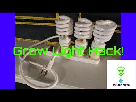 Indoor Micro - Cheap DIY Grow Light Hack!