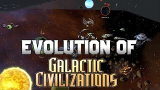 Graphical Evolution of Galactic Civilizations (2003-2015)