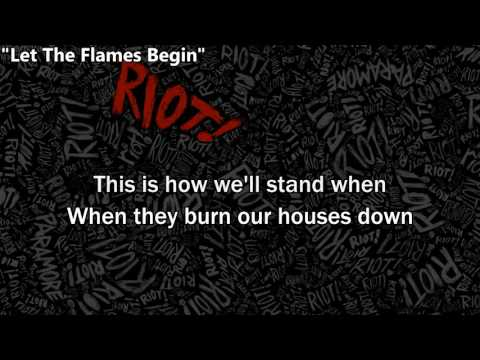 Paramore - Let the flames begin + Part II (Lyrics to sing)