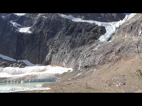 SCENIC CLIMBING OF Mt EDITH CAVELL NEAR JASPAR, CANADIAN ROCKIES 02AUG2015