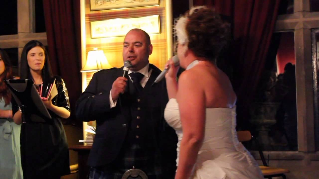 Bride Song To Groom: Bride And Groom Sing Song To Wedding Guests
