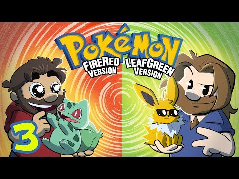 Pokemon Fire Red and Leaf Green | Let's Play Ep. 3 | Super Beard Bros.