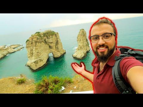 تحدي خطير في بيروت !! سبحت لصخرة الروشة !!