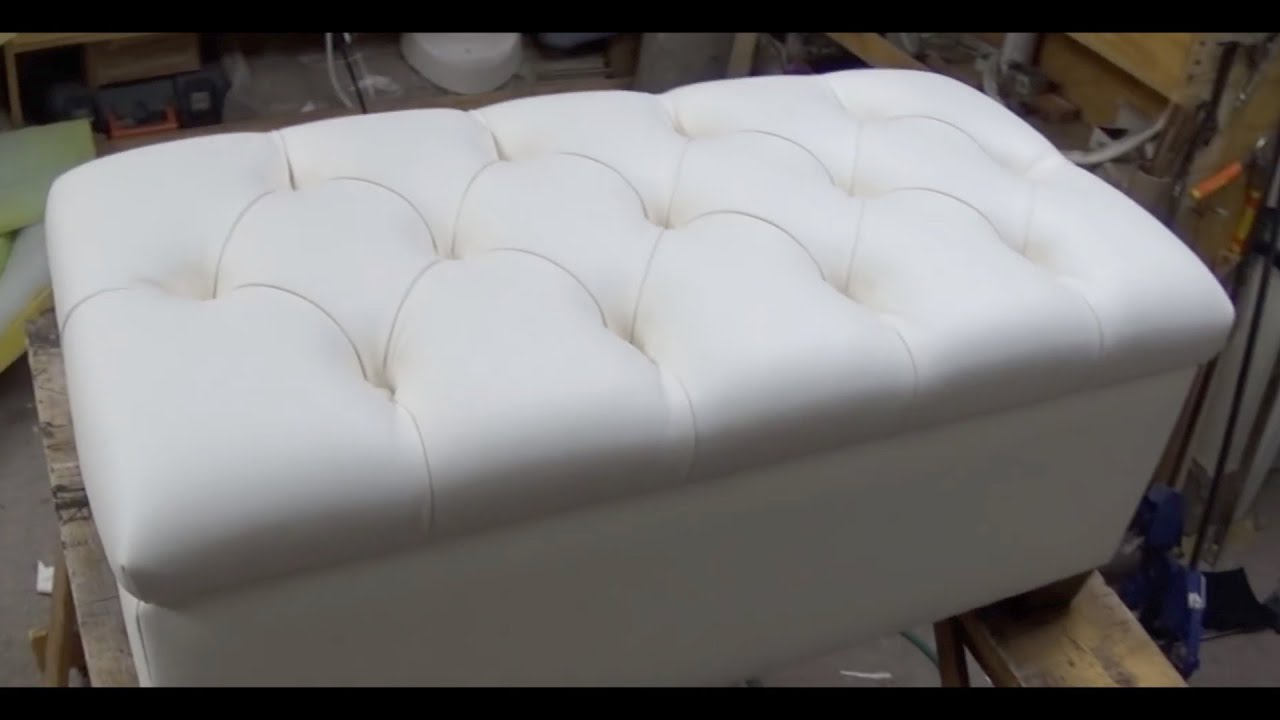 DIY: TUFTED BENCH WITH STORAGE SPACE   ALO Upholstery   YouTube