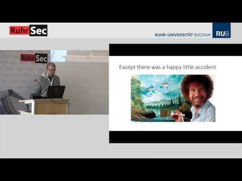 "RuhrSec 2017: ""Using Microarchitectural Design to Break KASLR and More"", Anders Fogh"