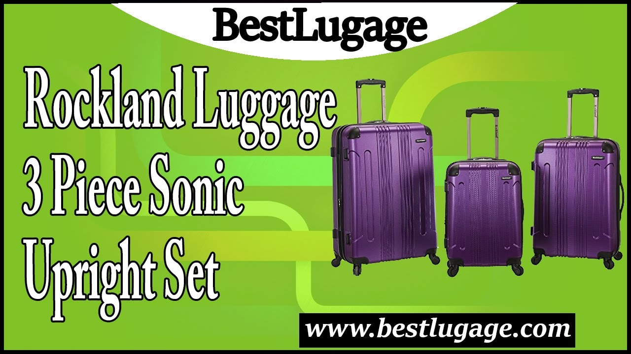 a2691b2d9 Rockland Luggage 3 Piece Sonic Upright Set Review - YouTube