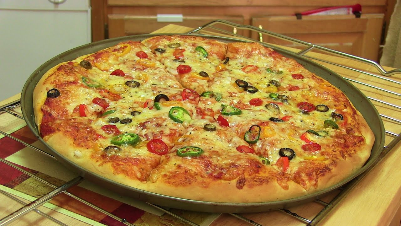 Homemade pizza video recipe start to finish pizza recipe with homemade pizza video recipe start to finish pizza recipe with dough sauce and toppings youtube forumfinder Image collections