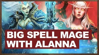 Big Spell Mage With Alanna | The Witchwood Hearthstone