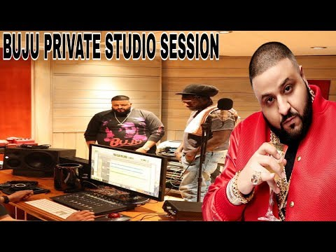 BUJU BANTON PRIVATE STUDIO SESSION WITH DJ KHALID AFTER surprise visit  to JA.  (Unstoppable tv)