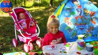 Щенячий Патруль PAW Patrol Ярослава и Кукла Беби Бон на пикнике Сюрпризы для детей Baby Born Doll