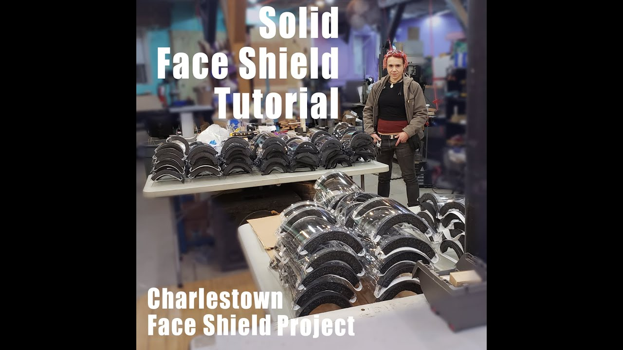 DIY Solid Face Shields Tutorial (Charlestown Face Shield Project)