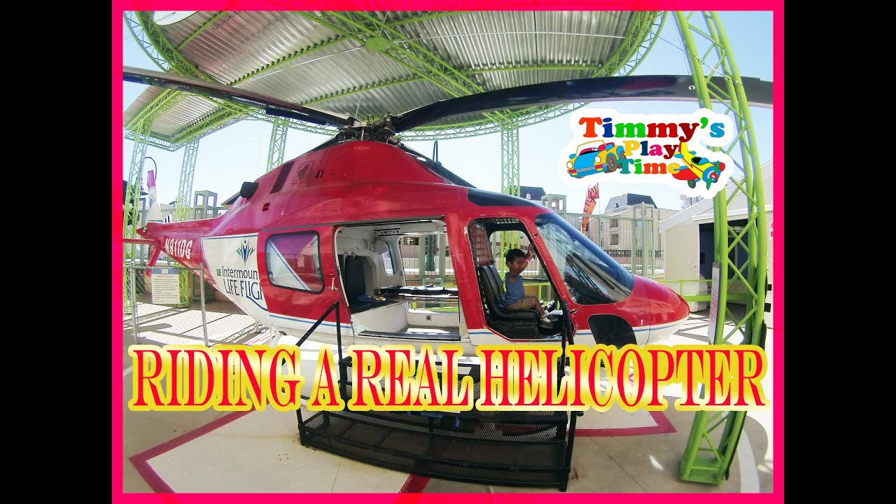 2 year old Riding a REAL Helicopter Pretend Play Family Fun