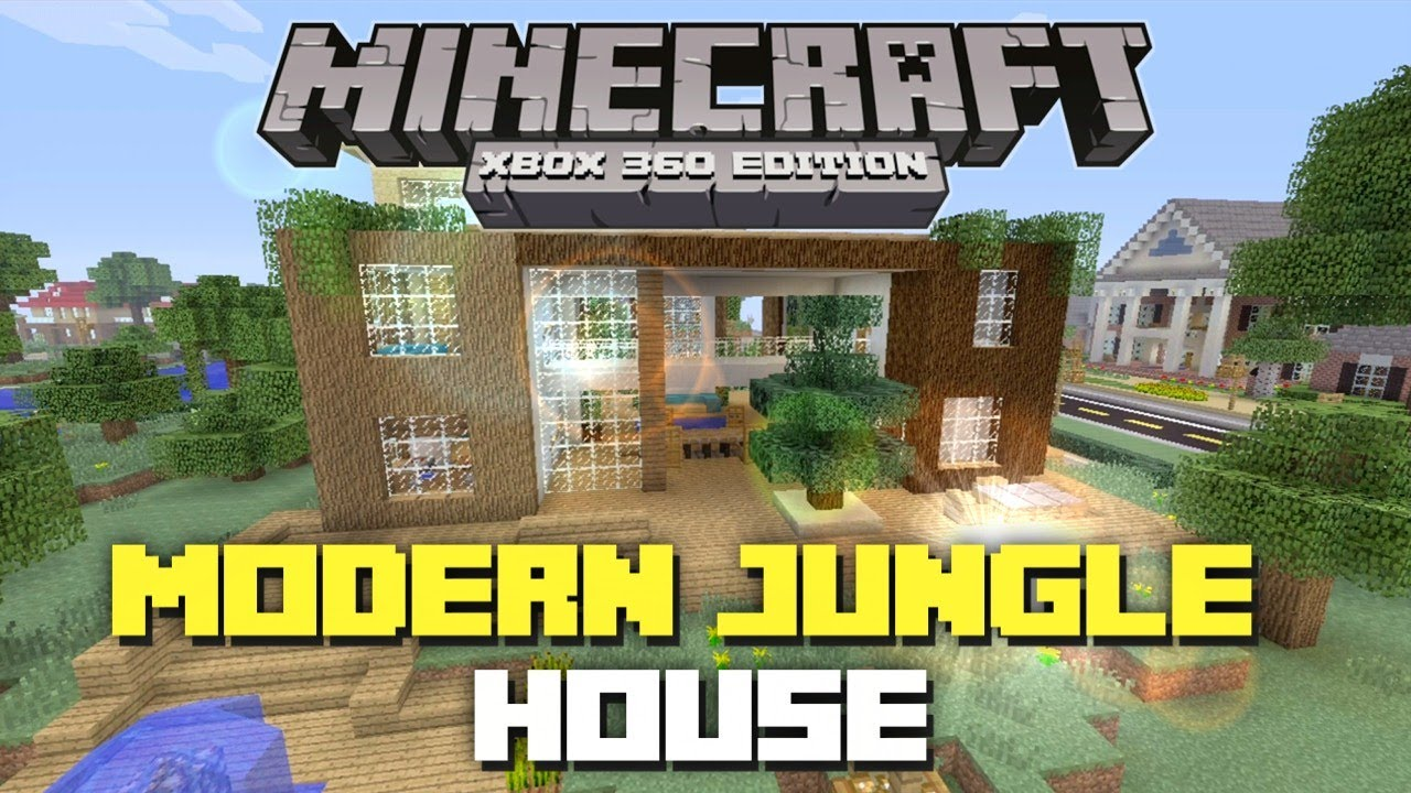 Minecraft xbox 360 modern jungle house house tours of for Modern house xbox minecraft