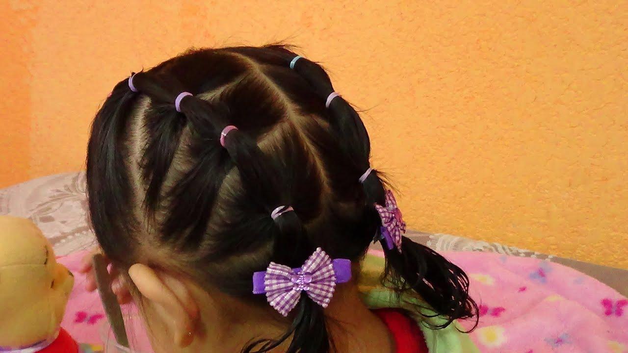 peinado de ligas para bebé/Baby hairstyle leagues/Детские прически лиги , YouTube