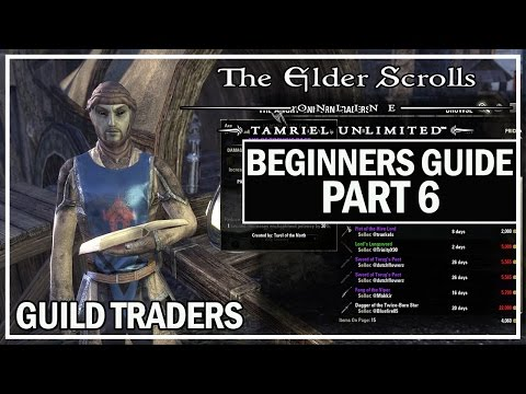 ESO Beginners Guide To Success Part 6 - Using Guild Traders