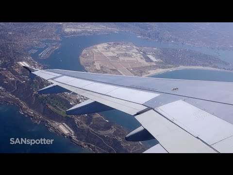 Frontier Airlines A319 takeoff from San Diego International Airport