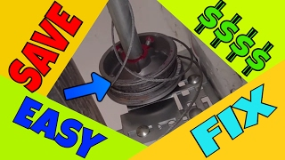 🆕 Garage Door Cable Off | EASY FIX!!