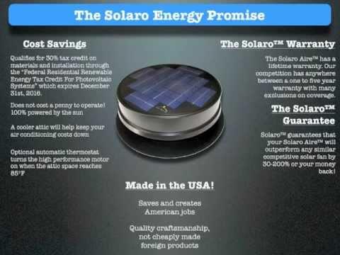 Solar Powered Attic Fan Overveiw Free Energy Ventilation