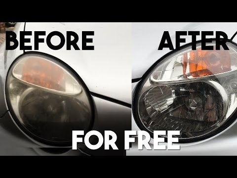Sparkling Clean Headlights for FREE!