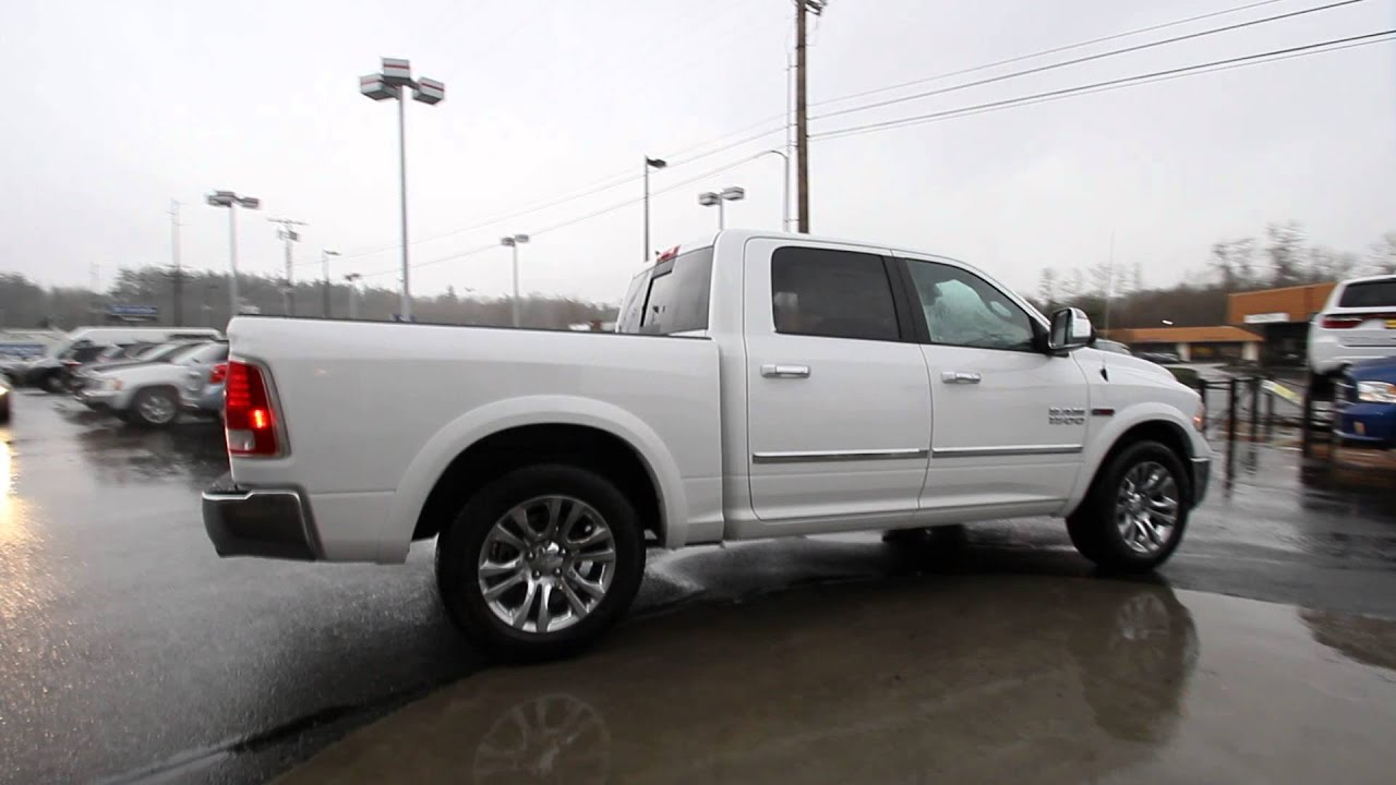 2015 dodge ram 1500 laramie longhorn crew cab white. Black Bedroom Furniture Sets. Home Design Ideas