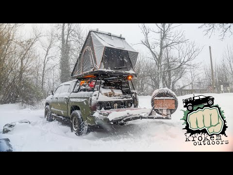 Solo Rooftop Tent Camping in a Snow Storm - Adding Crypto/Bitcoin Content?