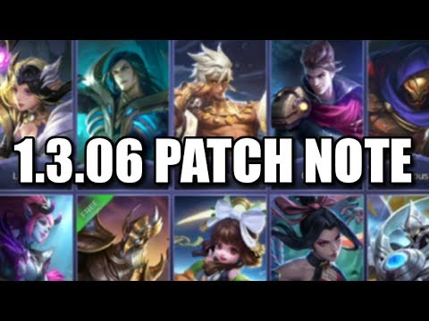 GOODBYE BANE VEXANA AND ALDOUS 1.3.06 PATCH NOTE