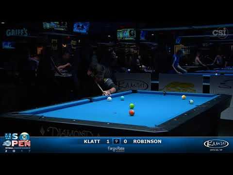 2017 US Open 10-Ball: Klatt vs Robinson