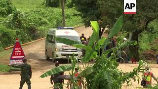 Raw: 9th Rescue Reported From Cave In Thailand
