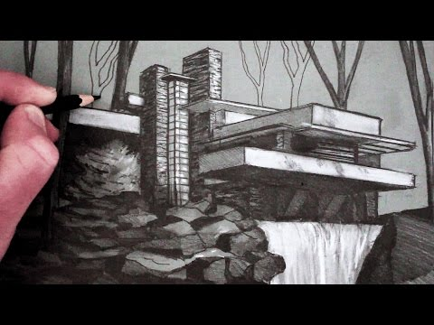 How to Draw a House: Fallingwater
