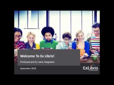ProQuest and Ex Libris Integration