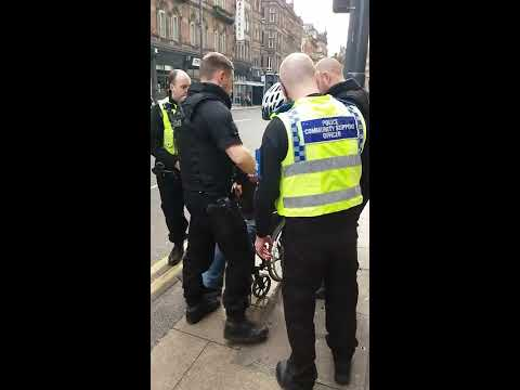 Police and P.C.S.O. BULLYING homeless man