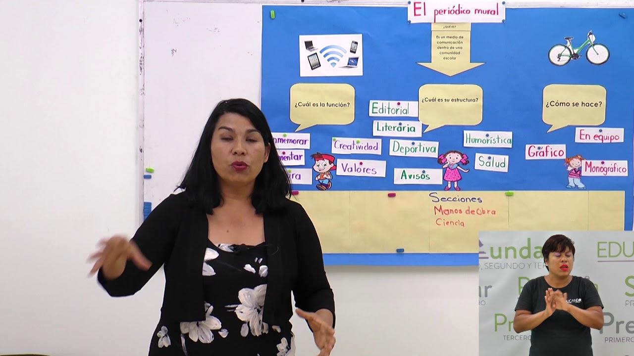 Primaria 3º Y 4º Clase 170 Tema El Periodico Mural Youtube