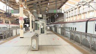 H5系+E6系到着とE5系+E6系発車 仙台駅にて