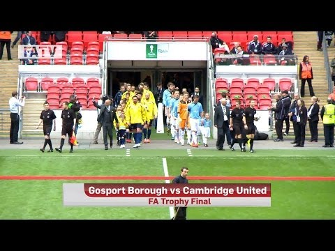 CAMBRIDGE UNITED vs GOSPORT BOROUGH 4-0: Goals and highlights FA Trophy Cup Final