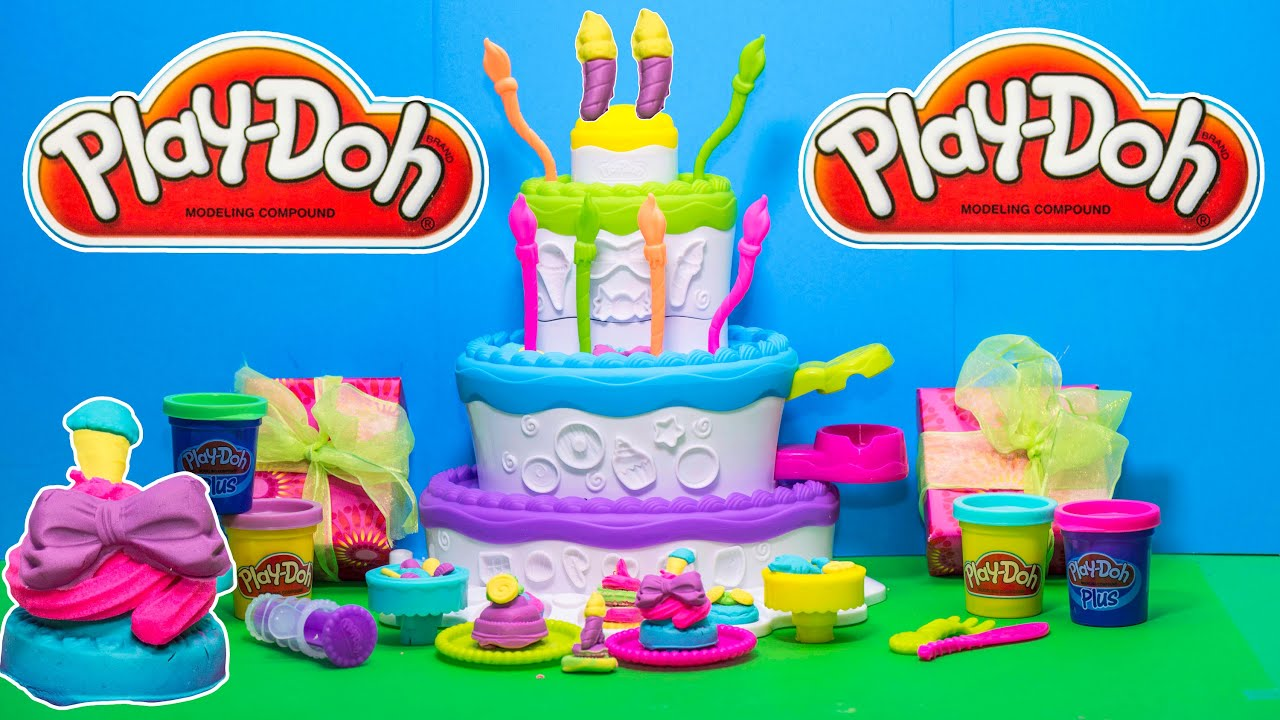 The Play Doh Cake Mountain Birthday Party Toy Review Youtube