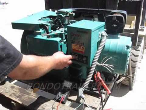ONAN 6.5AMP RV CAMPER GENERATOR RUNNING LOAD TEST BEN01 SOLD. on