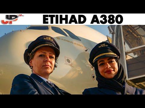 ETIHAD AIRWAYS Airbus A380 Pilots SOPHIE & SHAIMA