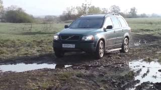 В грязи. In the mud.  Land Rover Discovery, Subaru Forester,  Volvo XC90, Niva, Mitsubishi L200