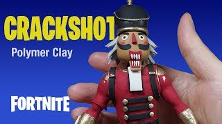 CRACKSHOT from FORTNITE in POLYMER CLAY - Candy AXE