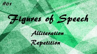 Figures of Speech #01 | Alliteration & Repetition | In Hindi