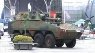 Rosomak 120 mm wheeled self-propelled  mortar carrier armoured vehicle MSPO 2010